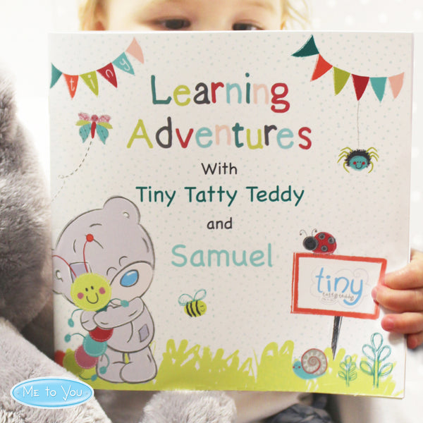Personalised Tiny Tatty Teddy Learning Adventure Book with personalised name