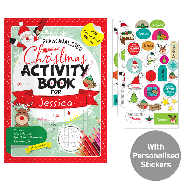 Personalised Christmas Activity Book with Stickers from Sassy Bloom Gifts - alternative view