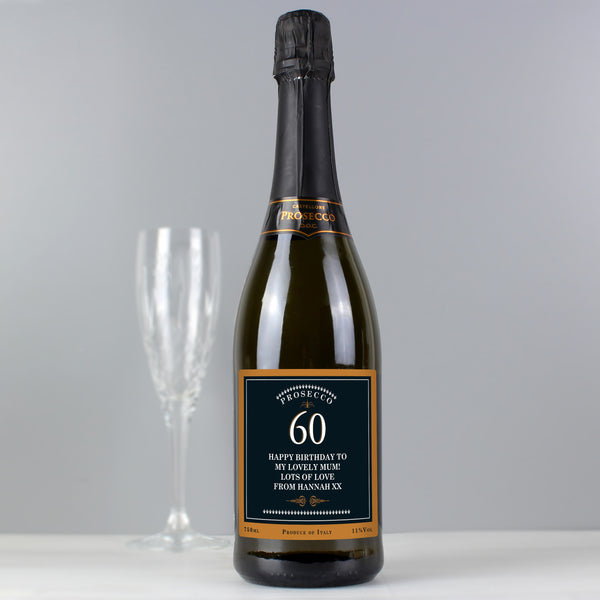 Personalised Birthday And Anniversary Bottle of Prosecco with personalised name