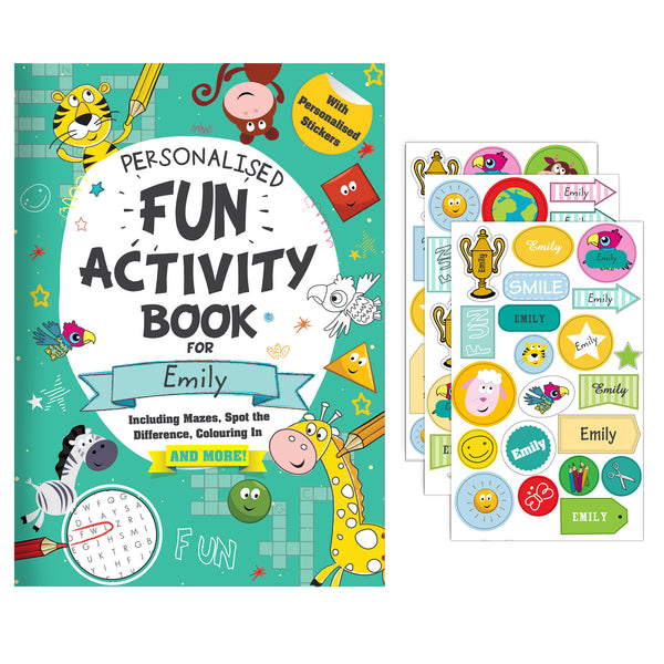 Personalised Activity Book with Stickers white background