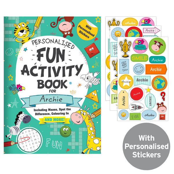 Personalised Activity Book with Stickers from Sassy Bloom Gifts - alternative view