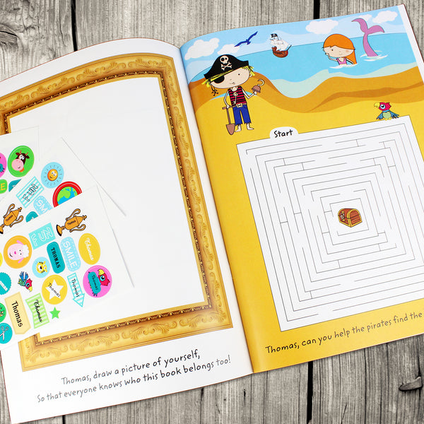 Personalised Activity Book with Stickers lifestyle image
