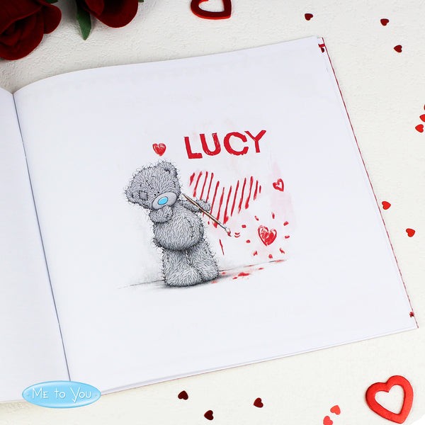 Personalised Me to You The One I Love Poem Book with personalised name