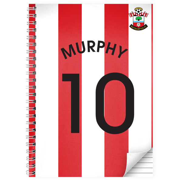 Personalised Southampton A4 Notebook white background