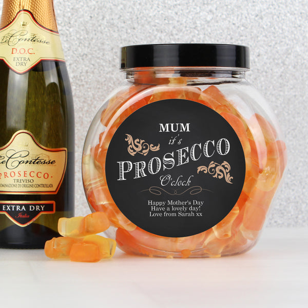 Personalised 'It's Prosecco O'Clock' Prosecco Gummies Jar from Sassy Bloom Gifts - alternative view
