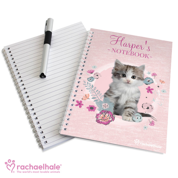 Personalised Rachael Hale Cute Kitten A5 Notebook from Sassy Bloom Gifts - alternative view