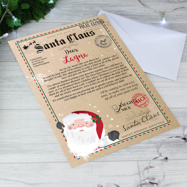 Personalised Santa Claus Letter with personalised name