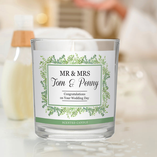 Personalised Fresh Botanical Scented Jar Candle from Sassy Bloom Gifts - alternative view