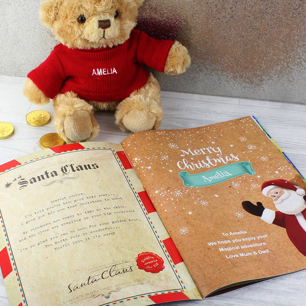 Personalised Magical Christmas Adventure Story Book and Personalised Bear from Sassy Bloom Gifts - alternative view