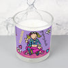 Personalised Bang on the Door Groovy Chick Scented Jar Candle