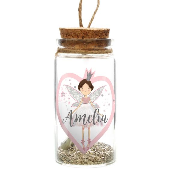 Personalised Fairy Dust Message in a Bottle white background