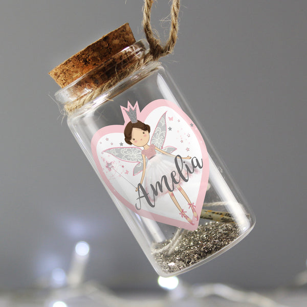 Personalised Fairy Dust Message in a Bottle with personalised name