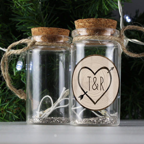 Personalised Carved Heart Message in a Bottle from Sassy Bloom Gifts - alternative view
