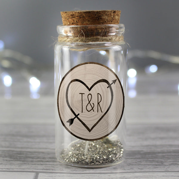 Personalised Carved Heart Message in a Bottle lifestyle image