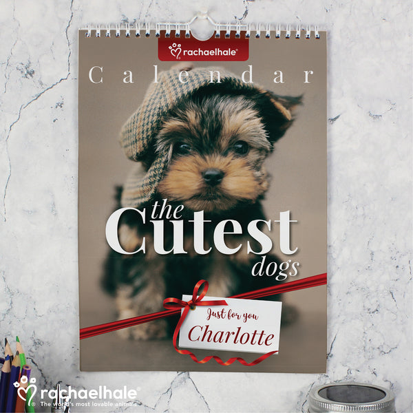 Personalised Rachael Hale 'The Cutest Dogs' A4 Wall Calendar from Sassy Bloom Gifts - alternative view