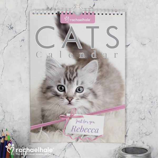 Personalised Rachael Hale A4 Cats Calendar from Sassy Bloom Gifts - alternative view