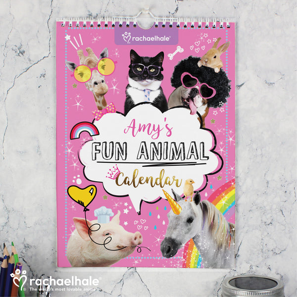 Personalised Rachael Hale Fun Animals A4 Wall Calendar from Sassy Bloom Gifts - alternative view