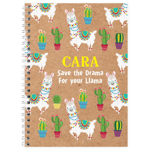 Personalised Llama A5 Notebook lifestyle image