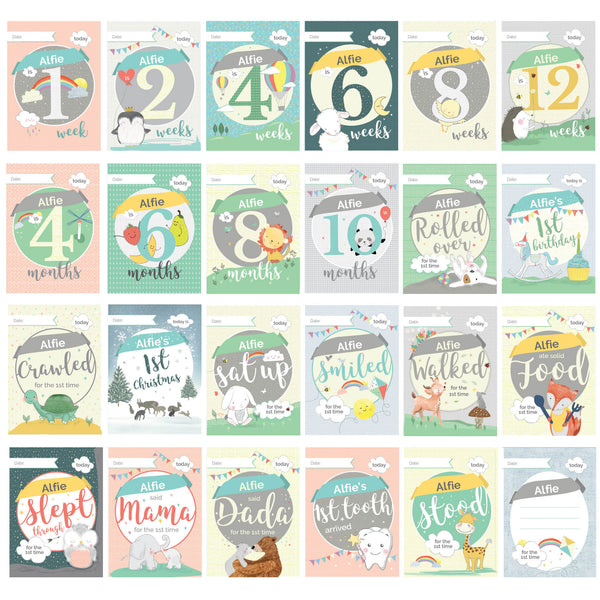 Personalised Baby Cards: For Milestone Moments white background