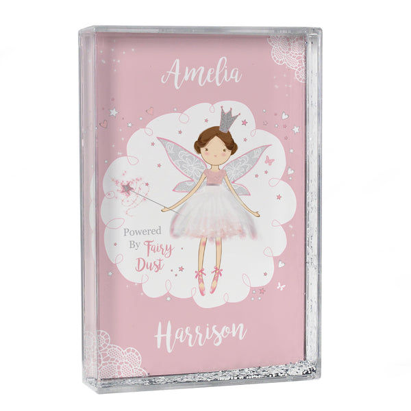 Personalised Fairy Princess Glitter Shaker white background
