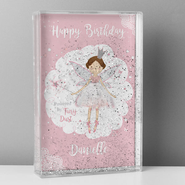 Personalised Fairy Princess Glitter Shaker lifestyle image