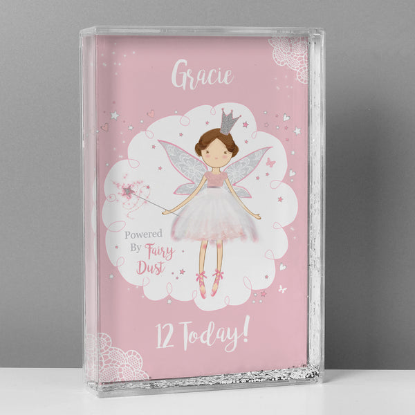 Personalised Fairy Princess Glitter Shaker with personalised name