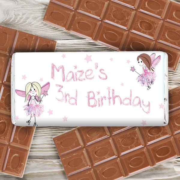 Personalised Fairy Milk Chocolate Bar lifestyle image
