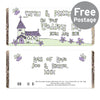 Personalised Whimsical Church Wedding Milk Chocolate Bar