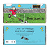 Personalised Bang on the Door Football Crazy Milk Chocolate Bar