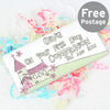 Personalised Whimsical Church Pink 1st Holy Communion Milk Chocolate Bar