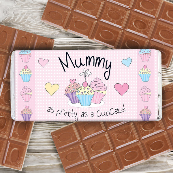 Personalised Cupcake Milk Chocolate Bar from Sassy Bloom Gifts - alternative view