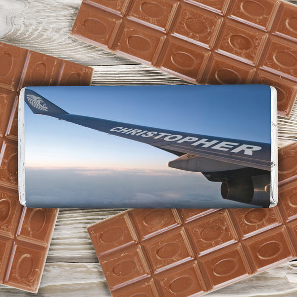 Personalised Jet Wing Milk Chocolate Bar from Sassy Bloom Gifts - alternative view