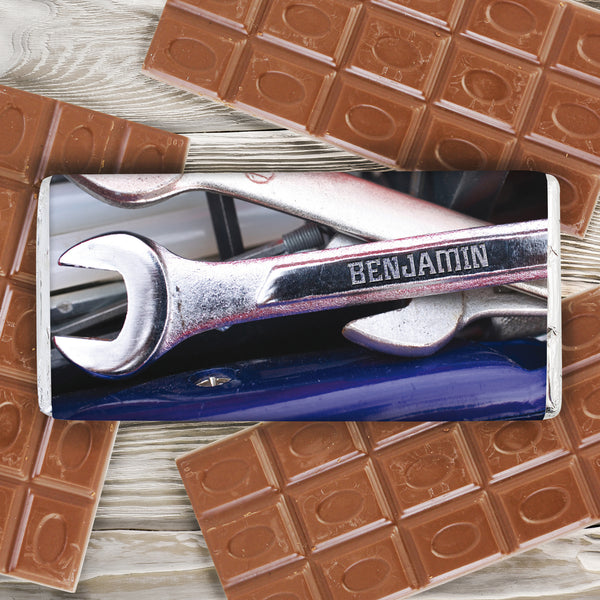 Personalised Tool Kit Milk Chocolate Bar from Sassy Bloom Gifts - alternative view