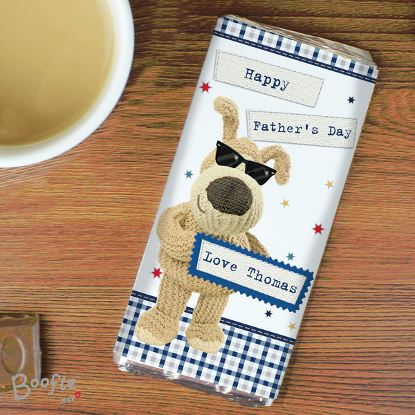 Personalised Boofle Stars Milk Chocolate Bar with personalised name