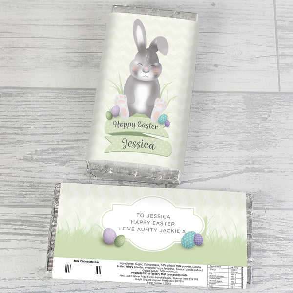 Personalised Easter Bunny Chocolate Bar from Sassy Bloom Gifts - alternative view
