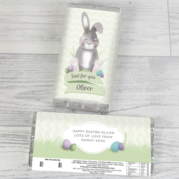 Personalised Easter Bunny Chocolate Bar lifestyle image