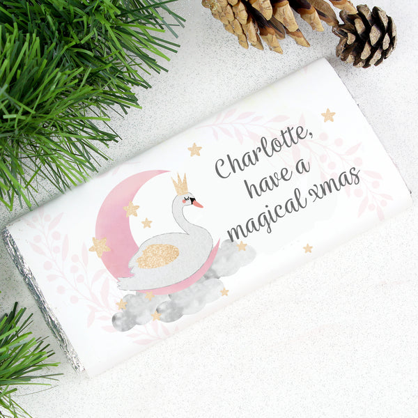 Personalised Swan Lake Milk Chocolate Bar from Sassy Bloom Gifts - alternative view