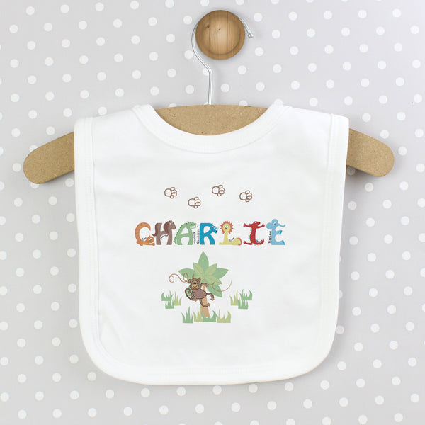 Personalised Animal Alphabet Baby Bib