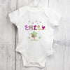 Personalised Girls Animal Alphabet 0-3 Months Baby Vest