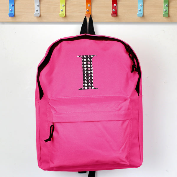 Personalised Star Initial Pink Backpack from Sassy Bloom Gifts - alternative view