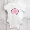 Personalised Pink Speech Bubble 9-12 Months Baby Vest