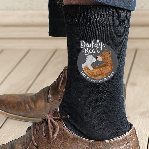 Personalised Daddy Bear Men's Socks from Sassy Bloom Gifts - alternative view