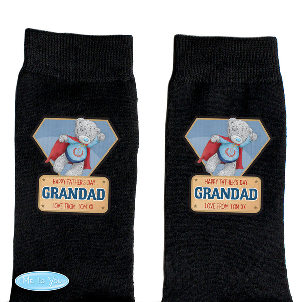 Personalised Me To You Super Hero Mens Socks from Sassy Bloom Gifts - alternative view