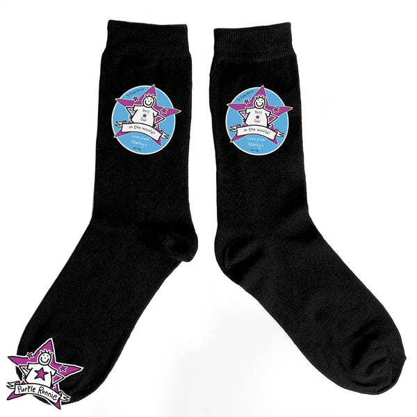Personalised Purple Ronnie Men's Socks from Sassy Bloom Gifts - alternative view