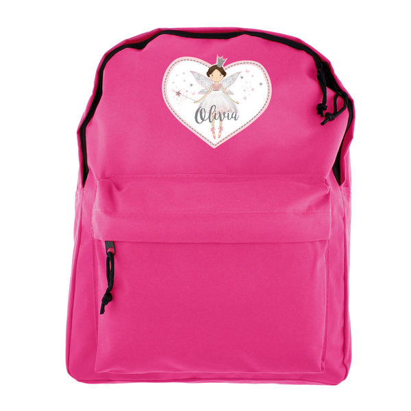 Personalised Fairy Princess Pink Backpack white background