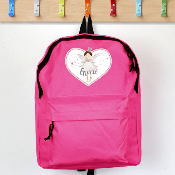 Personalised Fairy Princess Pink Backpack lifestyle image