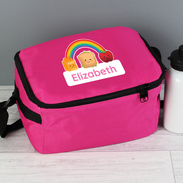 Personalised Healthy Eating Pink Lunch Bag