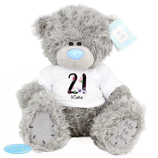 Personalised Me to You Bear with Big Age Birthday T-Shirt white background