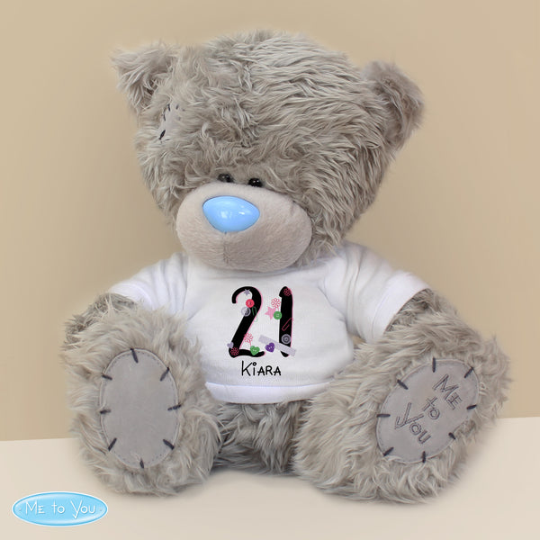 Personalised Me to You Bear with Big Age Birthday T-Shirt lifestyle image