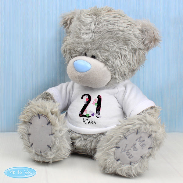 Personalised Me to You Bear with Big Age Birthday T-Shirt with personalised name
